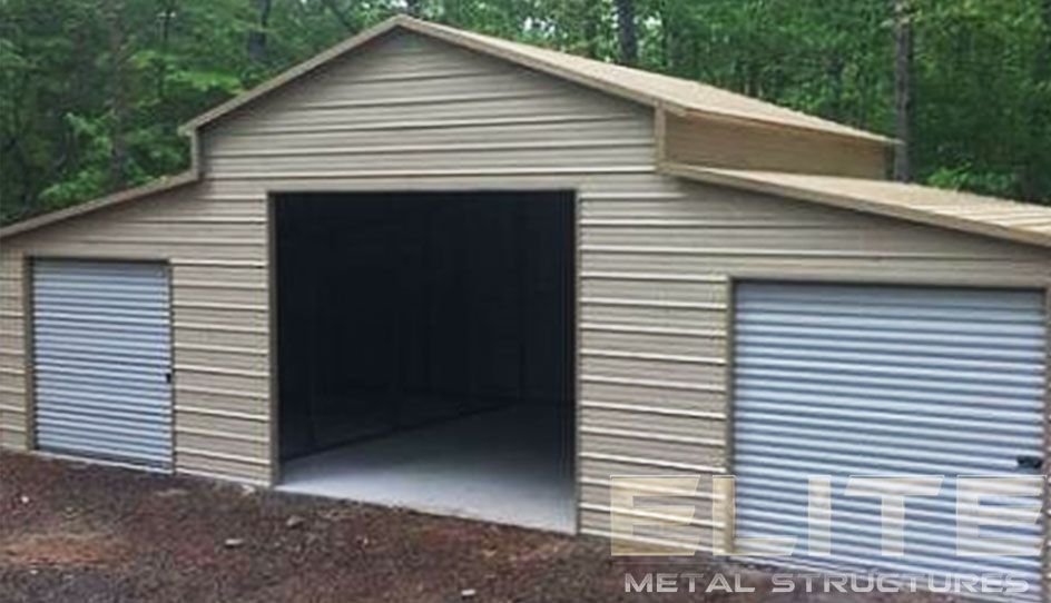22 X36 X10 Metal Garage Building With Side Entry Elite Metal Structures Metal Garage Buildings Metal Garages Metal Buildings