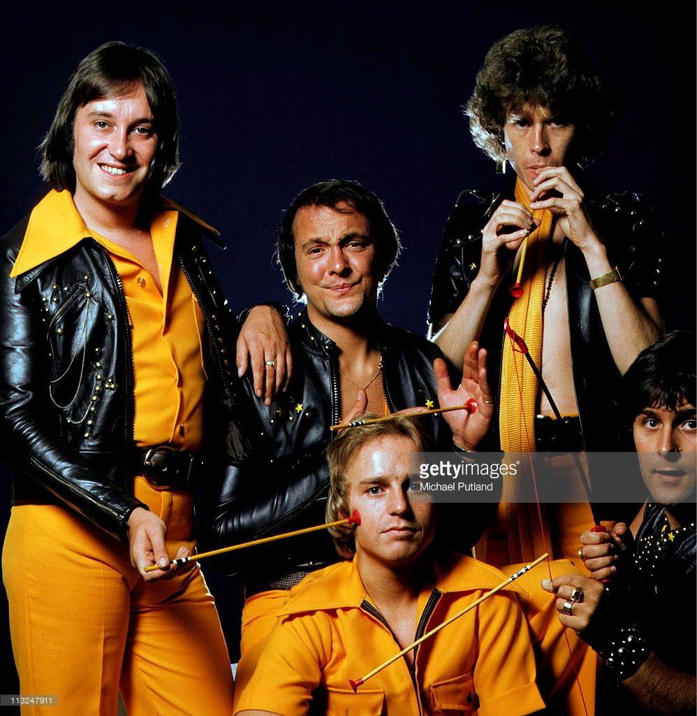 Rock Bands: English Glam Rock Band Mud, Studio Group Portrait, London