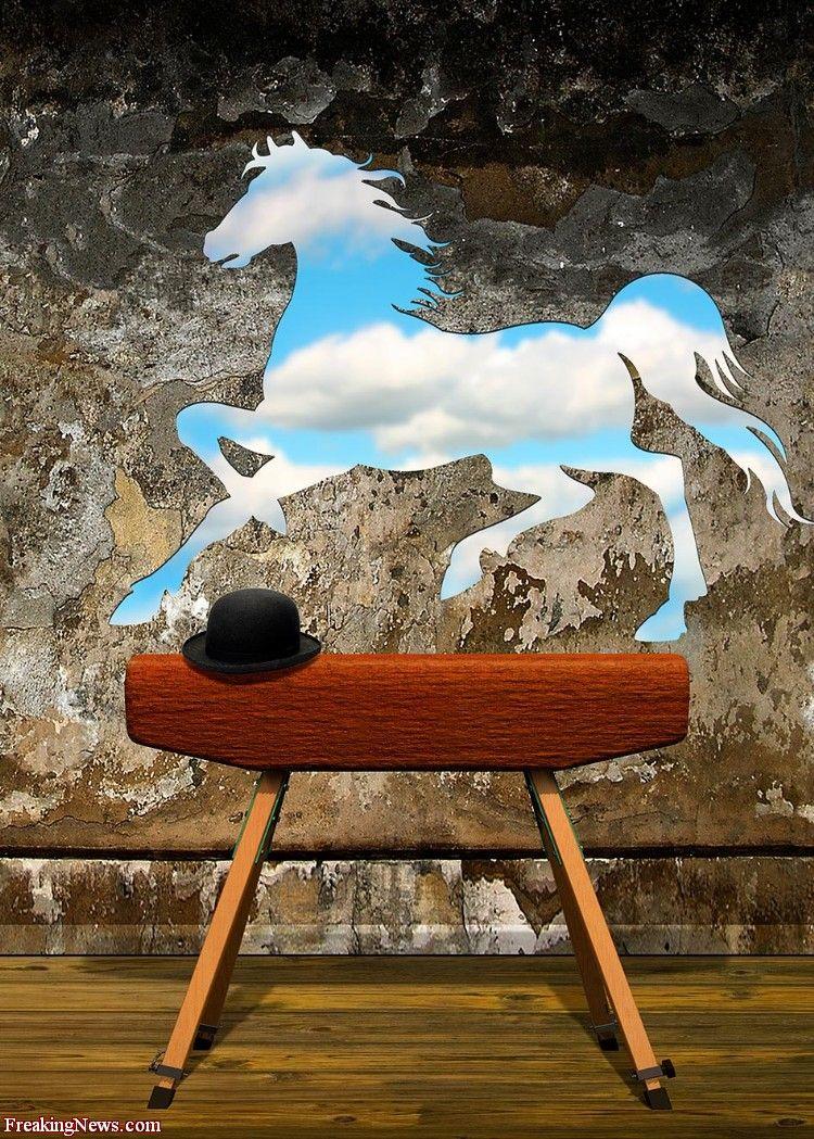 Vaulting Horse by Rene Magritte   S u r r e a l i s m o   Pinterest   Pinterest, Surréalisme et ...