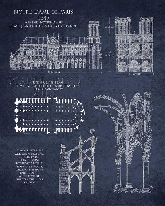 Notre Dame De Paris 8 X 10 Art Historical By ScarletBlvd On Etsy