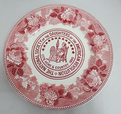 Wedgwood Red Transfere Plate The National Society Of Daughters Of American Revolution George Was Daughters Of American Revolution American Revolution Daughter