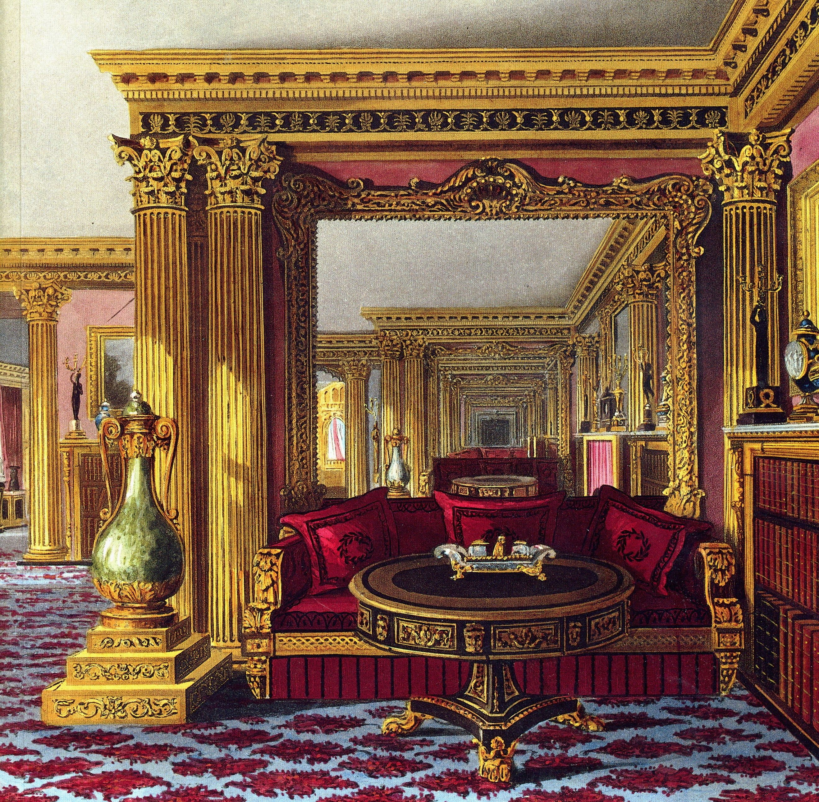 Interior of Carlton House The Golden Drawing room