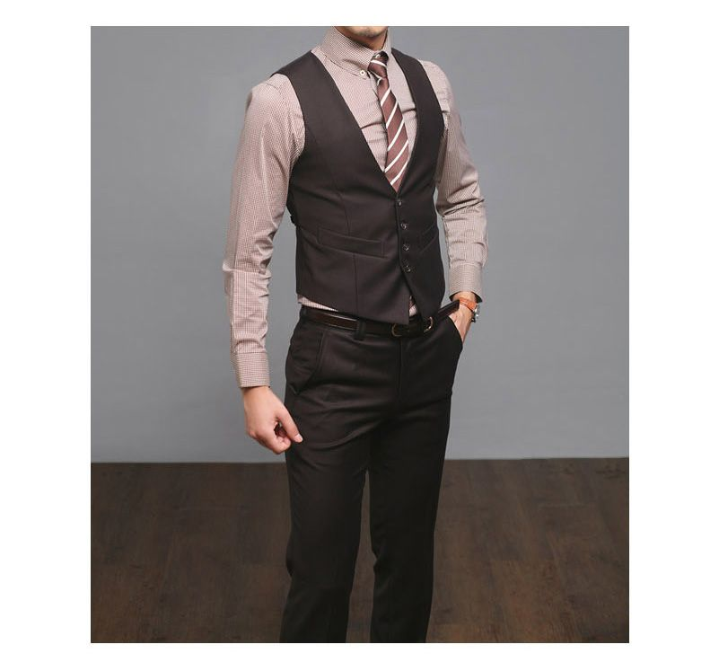 brown vest wedding | brown mens wedding suits uk lounge suit dress ...