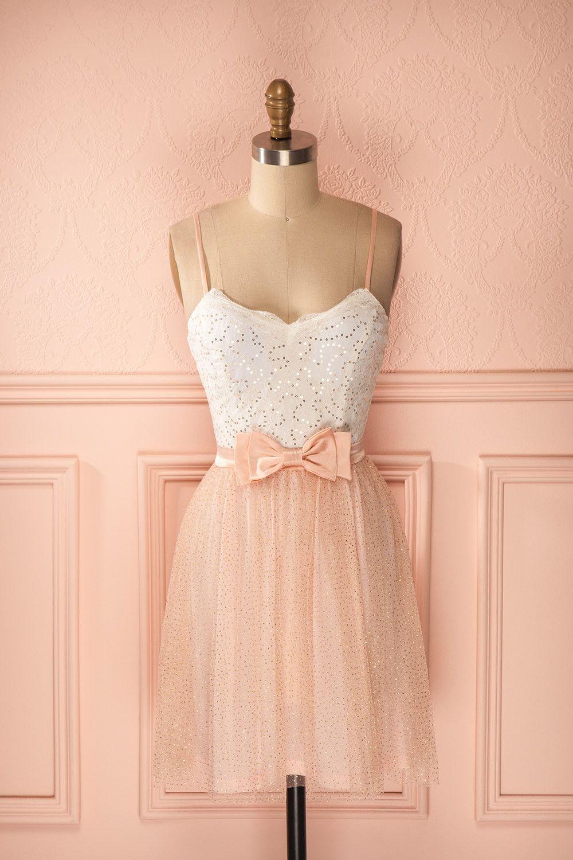 Robe courte tulle rose