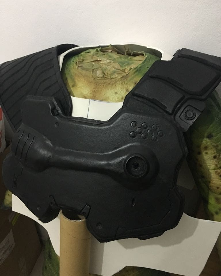 Doom Marine Praetor Suit Chest And Shoulders Doomguy Cosplay
