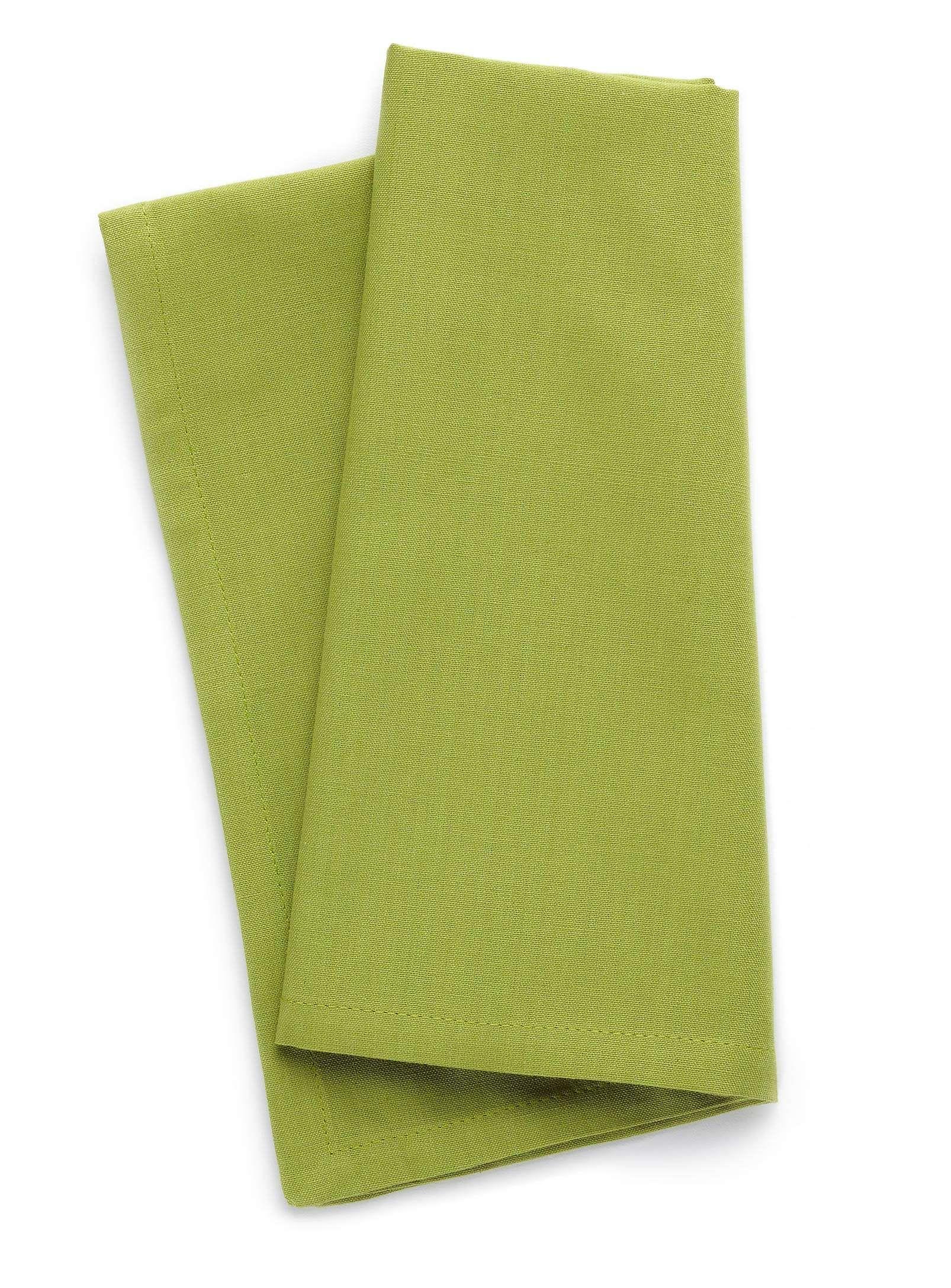 100 cotton green napkin Table Napkins Simons Green