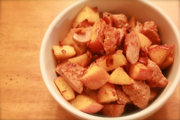 Spiced Sausage & Apple Medley