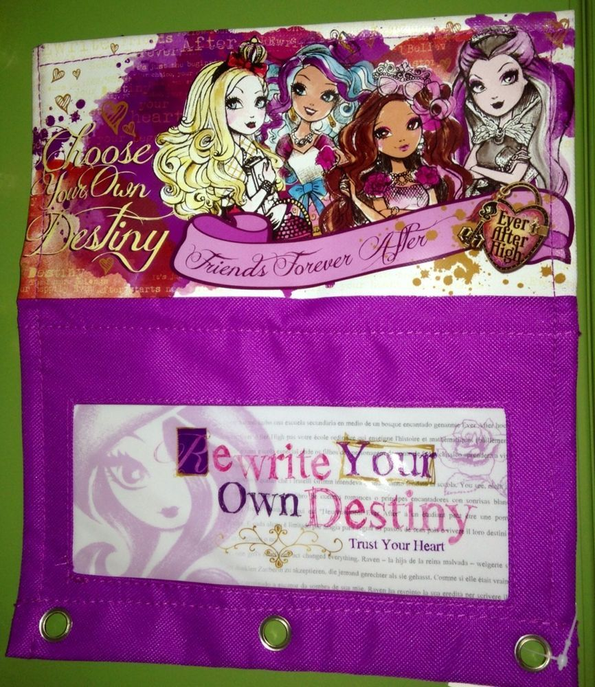 ever after high spiral notebook one subject new great for back to ever after high pencil and school supplies case attaches inside binder new