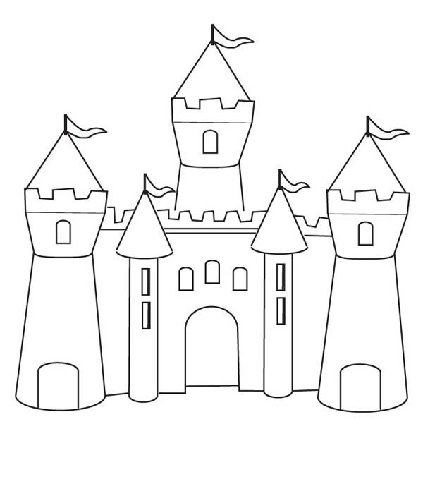 medieval castle how to draw medieval castle coloring page - How To Draw Coloring Pages