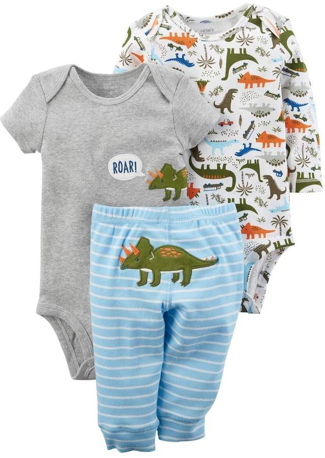 4e927a33dd76 Carter s Baby Boy 3-pc. Dinosaur Bodysuit   Pants Set