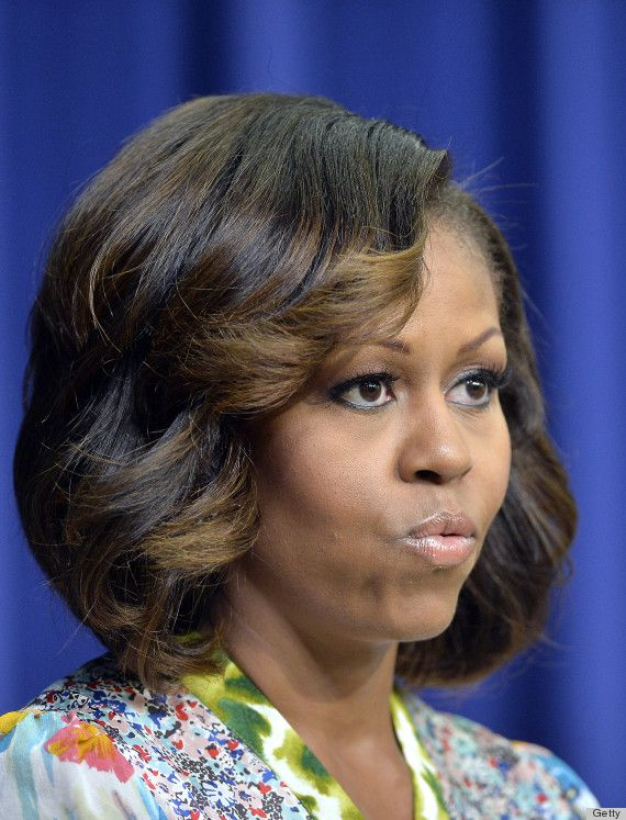Michelle hair highlights pinterest bang hair bangs and nice michelle obama hairstyles for 2017 hair color highlights pmusecretfo Images