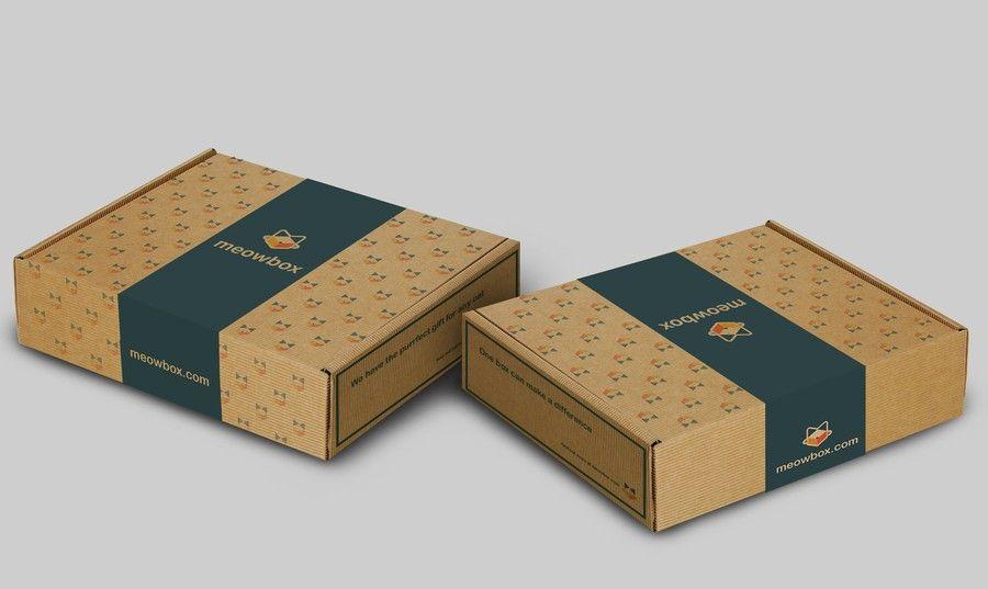 Shipping Carton For Subscription Box Meowbox Com 2 Design