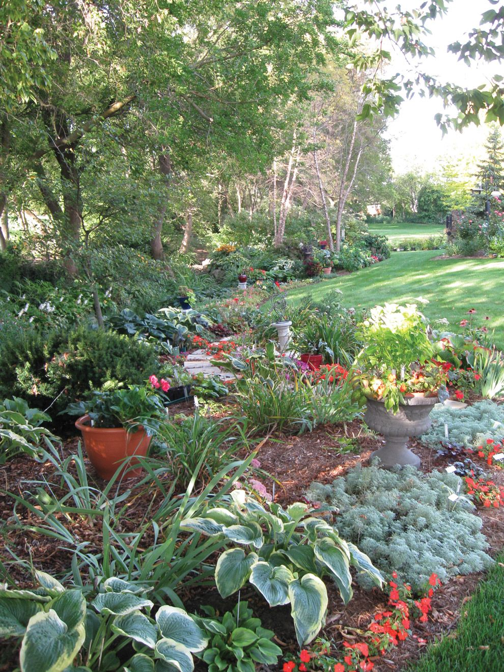 turn a drainage ditch into a dandy display wisconsin gardening