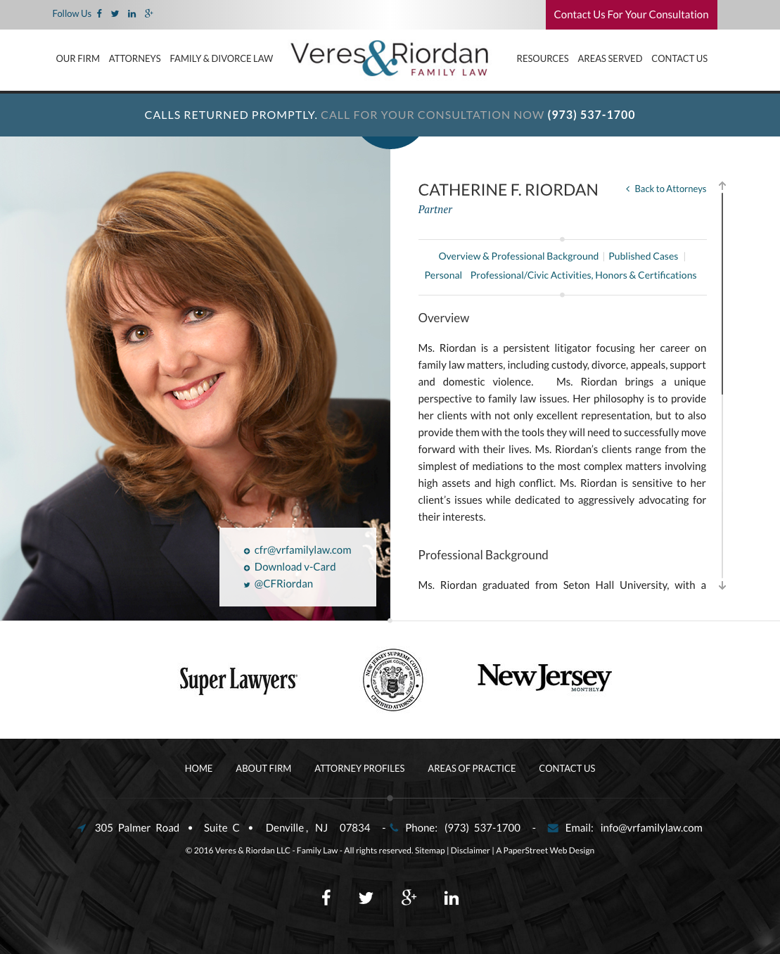 Attorney Bio Web Design By Paperstreet Family Law Attorneys Web Design