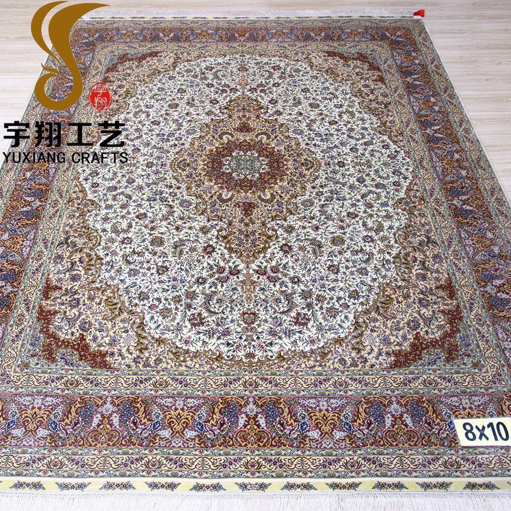 8x10 Ft Persian Carpet Handmade Silk Rug Made In China Rugs Persian Carpet Rugs On Carpet