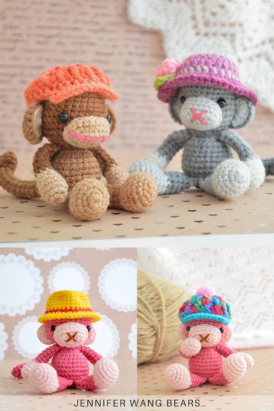Buy Crochet Artwork Amigurumi Handmade Bigfoot Monkey Soft Toy ... | 825x550