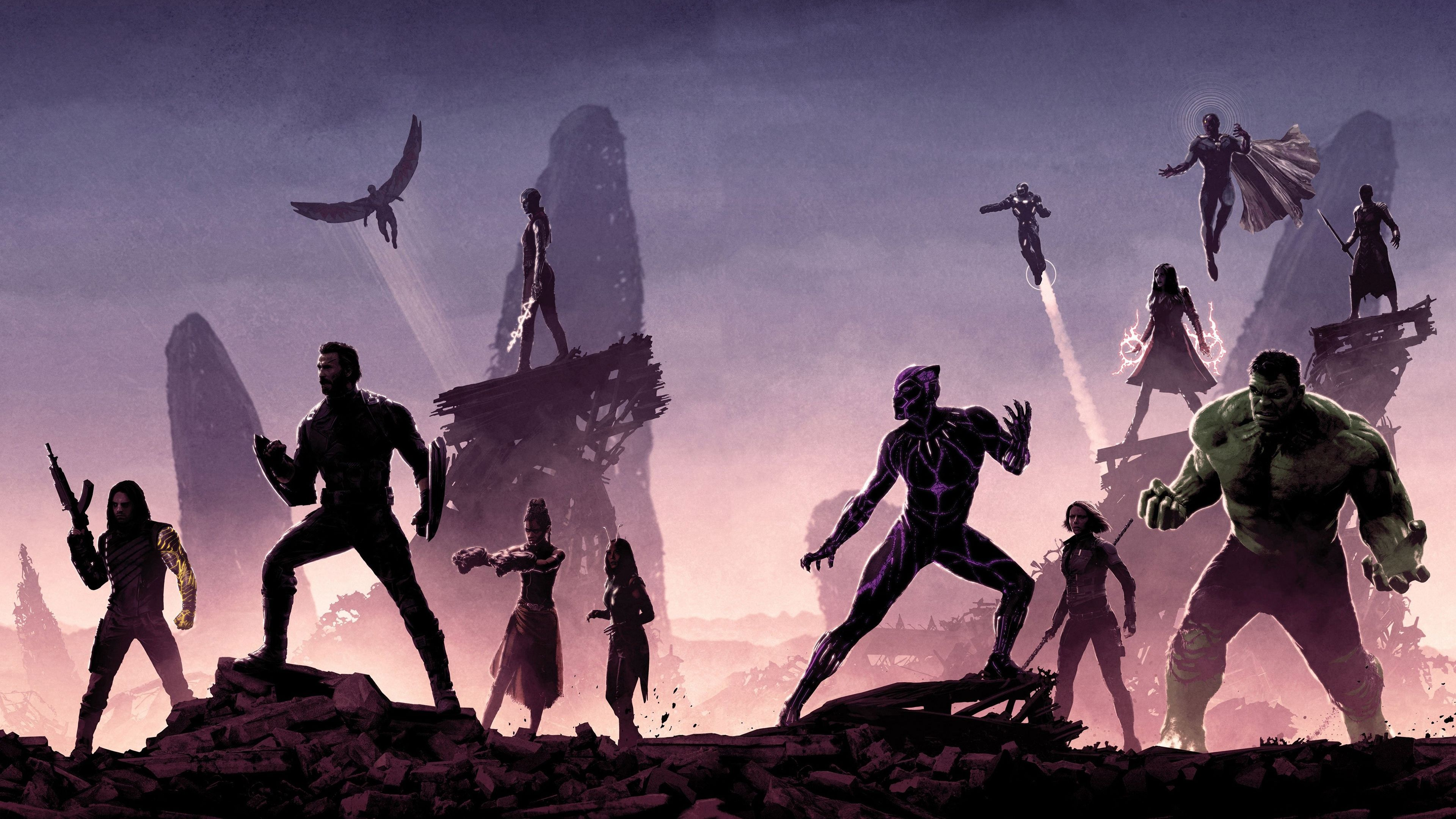 Avengers Infinity War Movie 2018 Minimalist The Hulk Black Panther Captain America Wh Marvel Comics Wallpaper Avengers Infinity War Black Panther Marvel