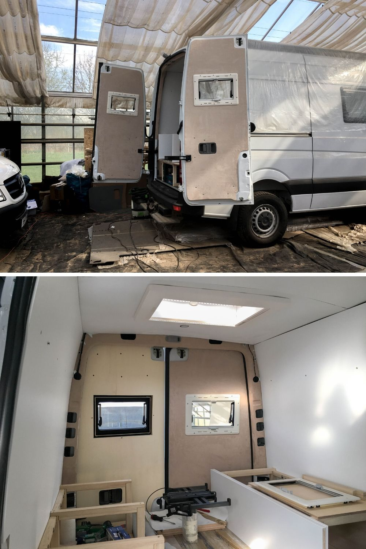 Diy Van Build Back Door Panels In 2020 Back Doors Panel Doors Windows And Doors