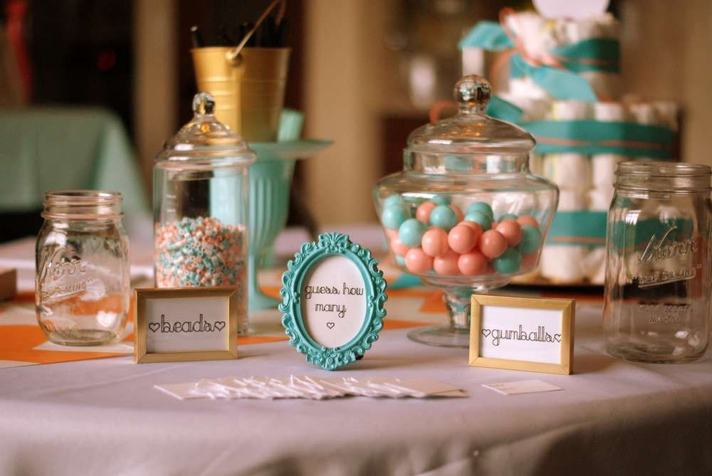 Coral And Aqua Baby Shower
