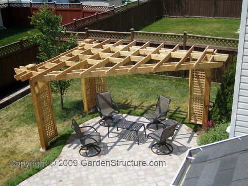 Pergola for triangular location - Google Search - Pergola For Triangular Location - Google Search Garden Pinterest