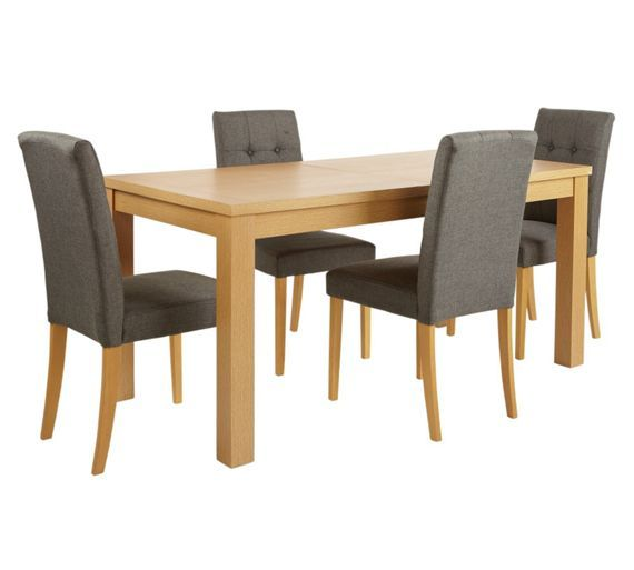 Home Odell Ext Dining Table And 4 Chairs Oak Veneer At Argos Co Uk Visit To Online For Sets Tables
