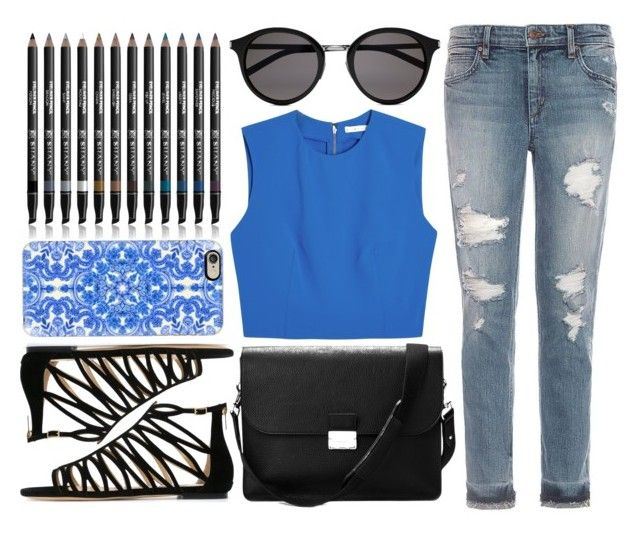 """""""Simple Day Out"""" by shadow13goddess101 ❤ liked on Polyvore featuring Joe's Jeans, Alice + Olivia, Yves Saint Laurent, Aspinal of London, Jimmy Choo, Casetify, Shany, brunch and spring2016"""