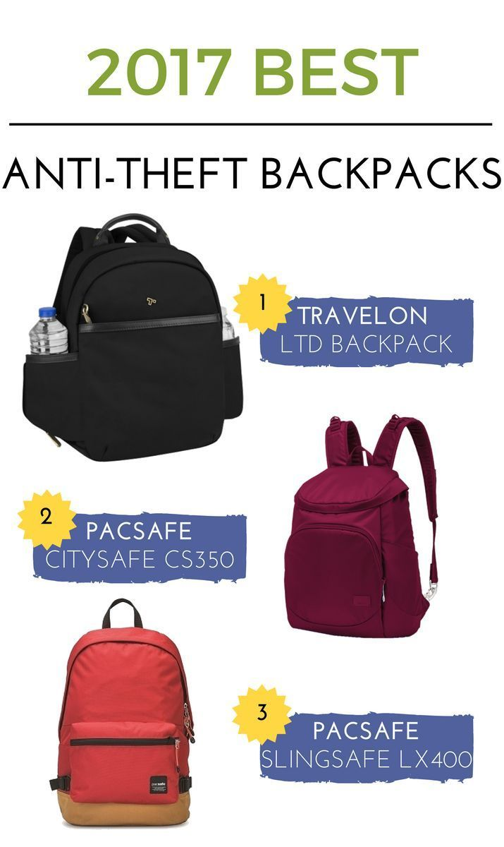 2017 Best Bags Start Off Your Travel Plans Getting A Secure Anti Theft Backpack It S Proof Features Will Valuables For