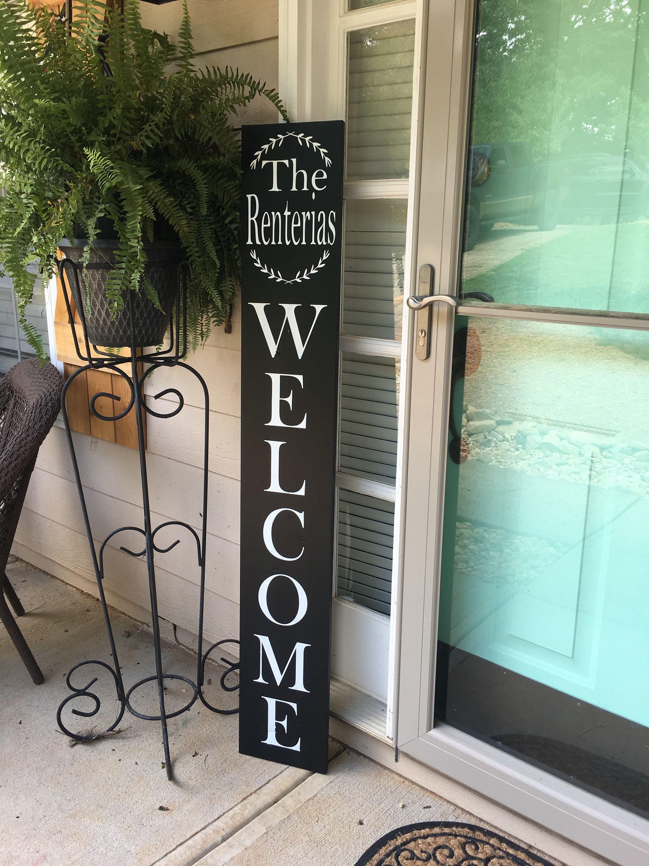 Family Welcome Sign Front Door Welcome Sign
