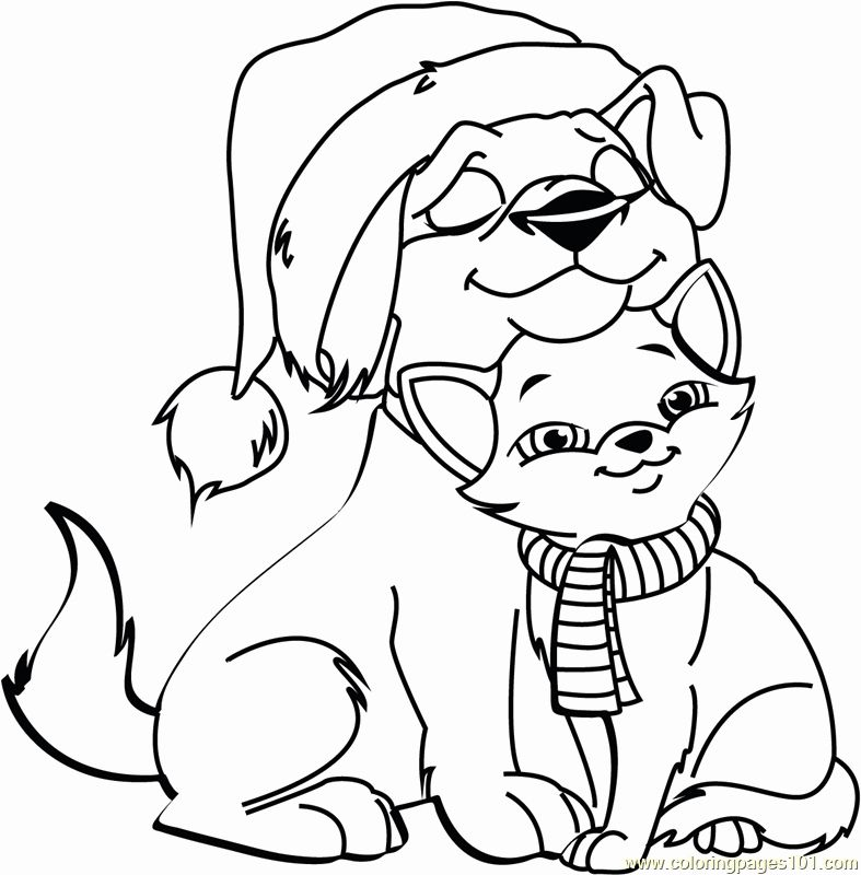 Christmas Animal Coloring Pages In 2020 Christmas Coloring Pages Printable Christmas Coloring Pages Dog Coloring Page