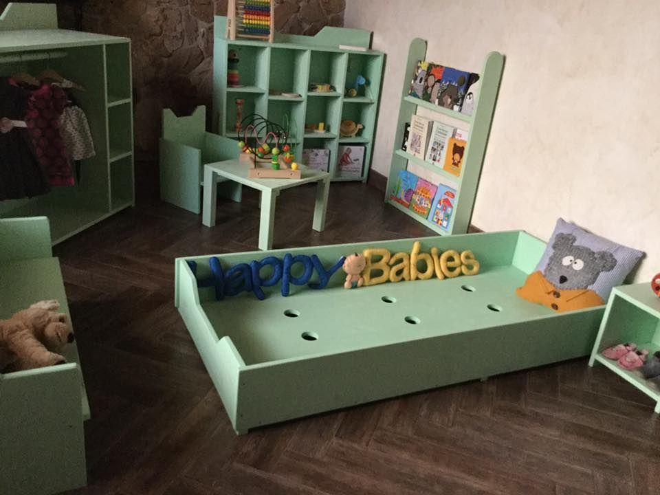 Cameretta Montessoriana Fai Da Te : Cameretta montessori verde acqua disponibile in altri colori e in