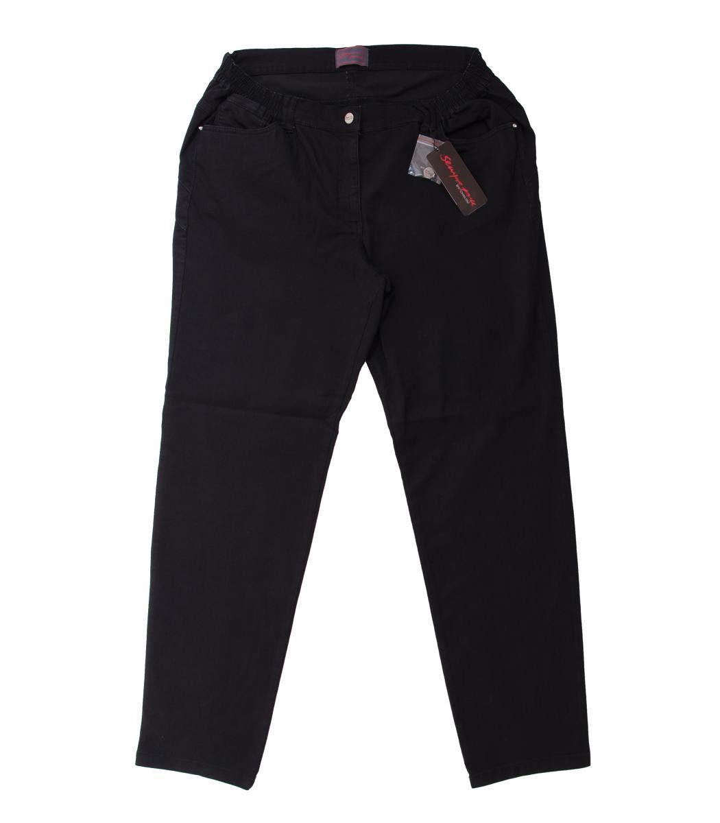 Sempre Piu by Chalou Damen Jeans Hose große Größen Schwarz ... 4ba25d60bc