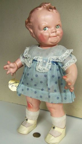 Vintage Scootles Kewpie Doll LG BXD by Cameo Doll Co NR   eBay