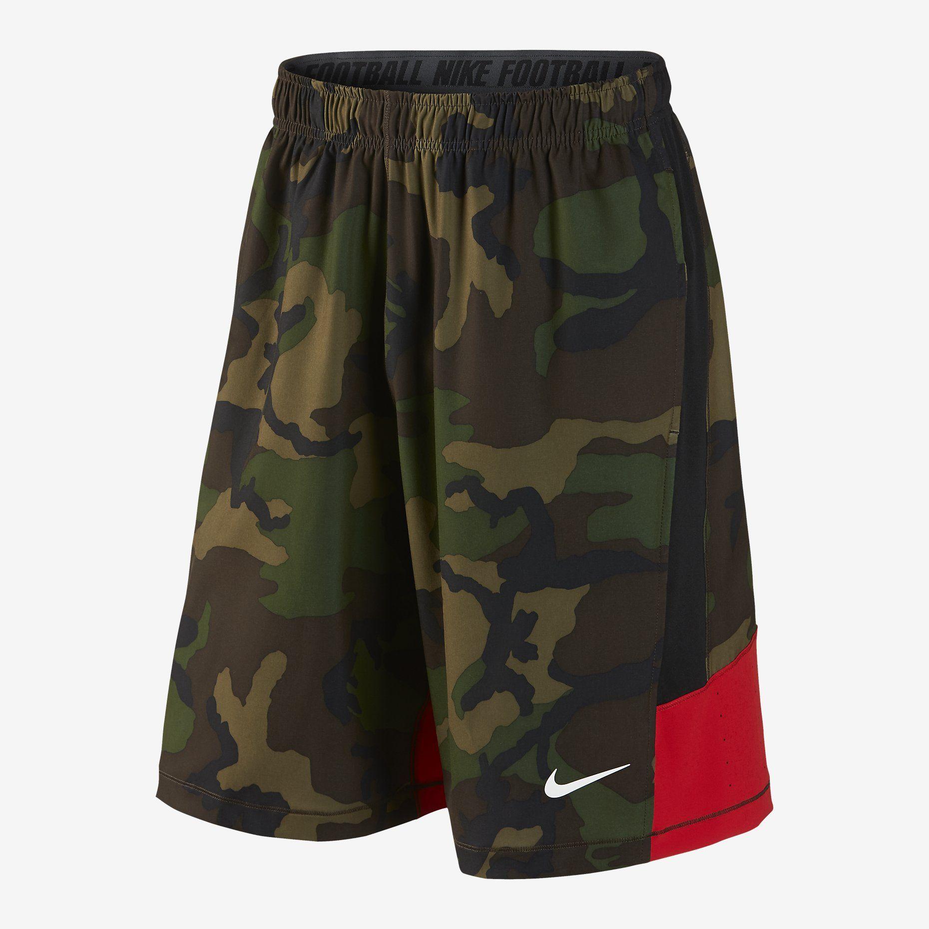 nike football speedvent camo shorts