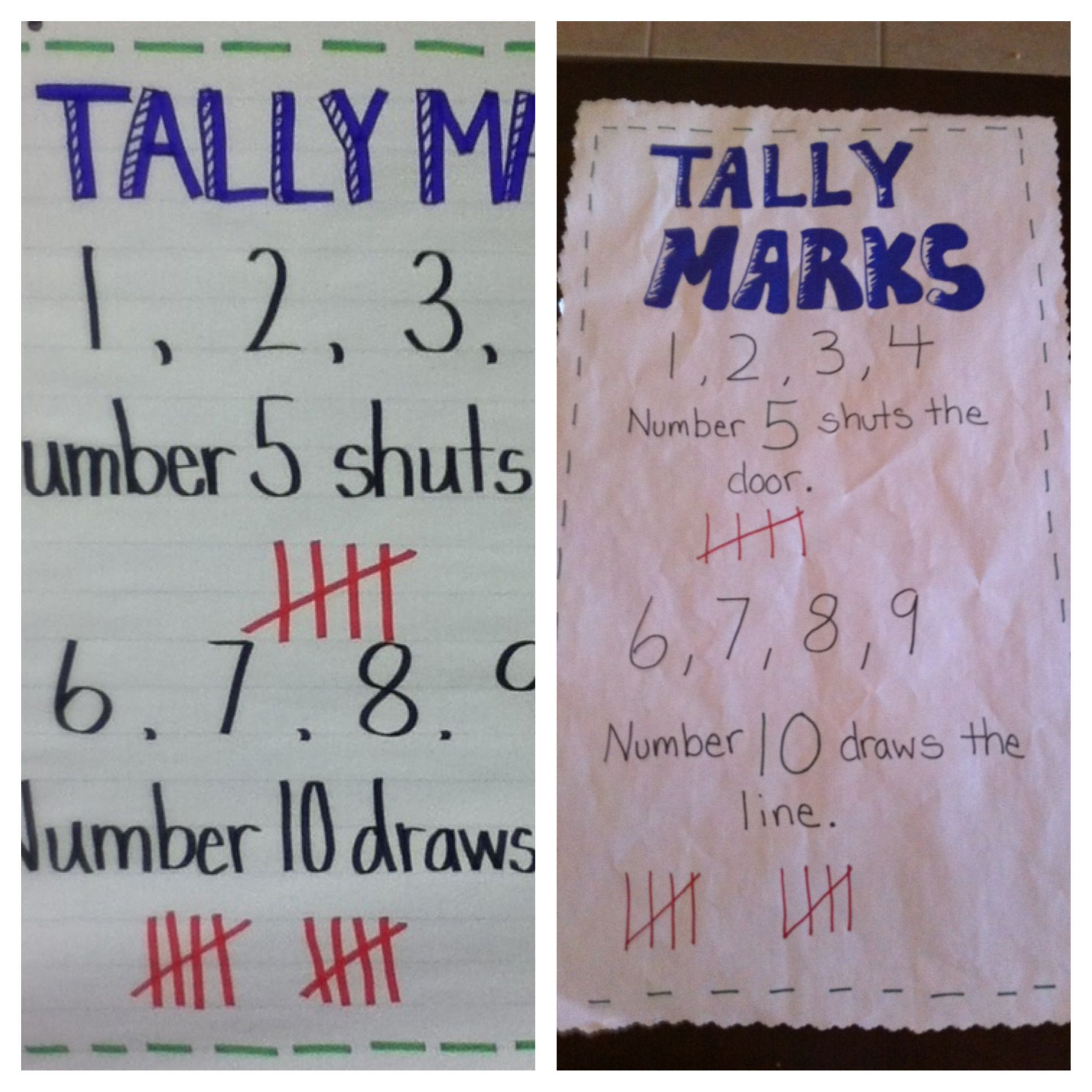 Tally Mark Anchor Chart Not Sure What Site It Came From