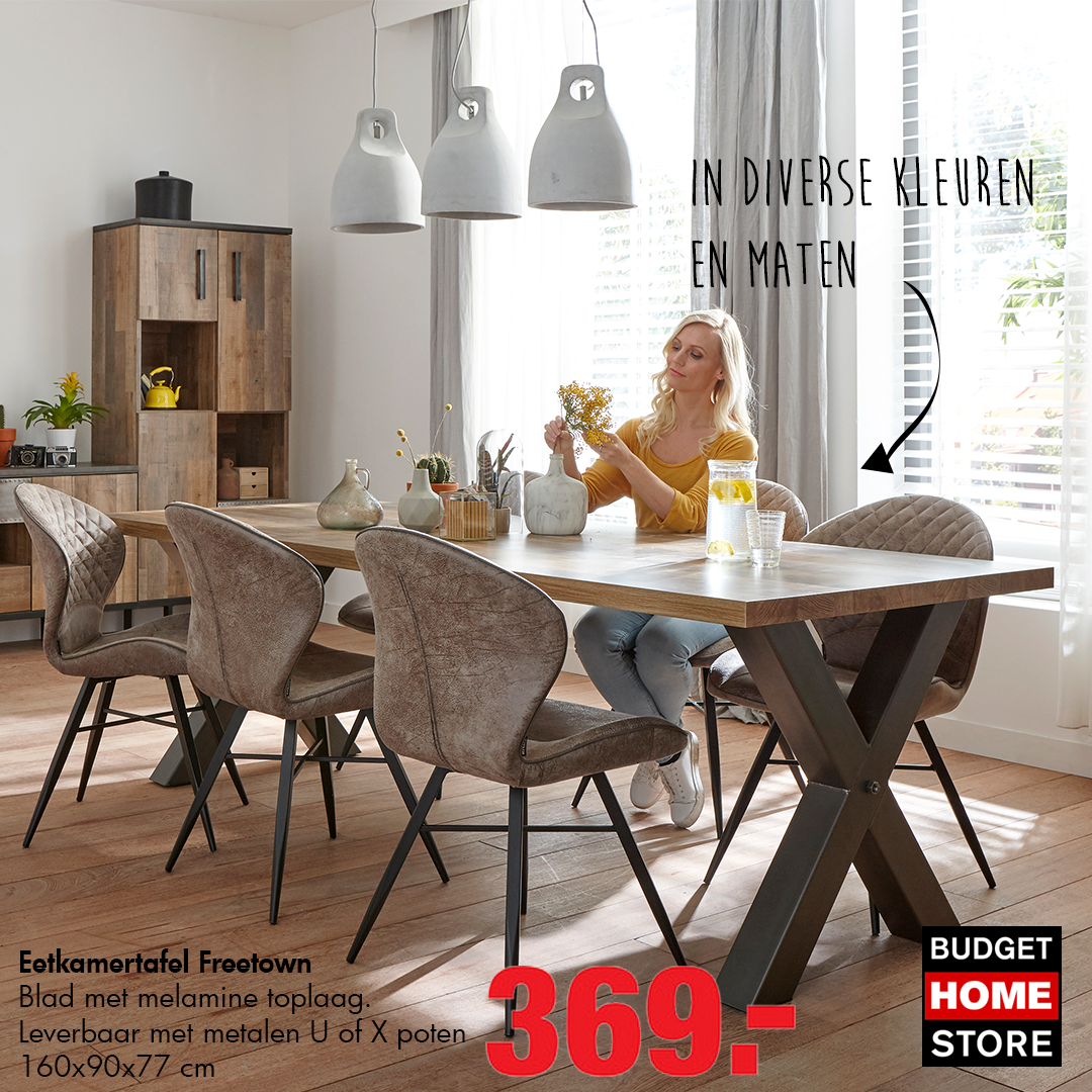 Eetkamertafel Maten Eetkamertafel Freetown Budget Home Store Collectie Pinterest