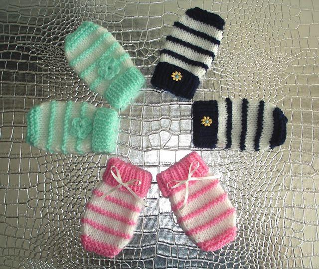 Garter Stitch Ridge Baby Mittens Mariannas Lazy Daisy Days Baby