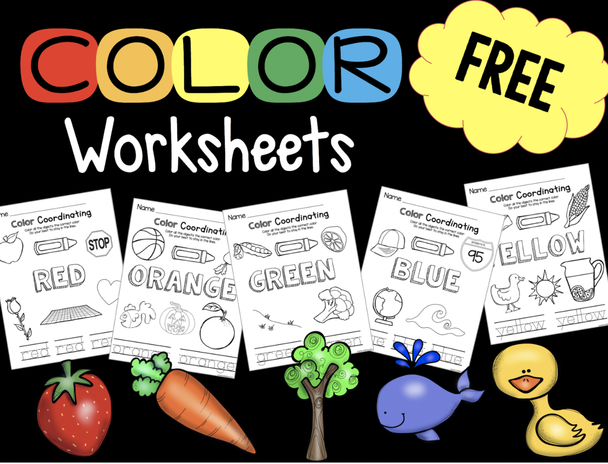 Preschool And Toddler Free Coloring Worksheets And