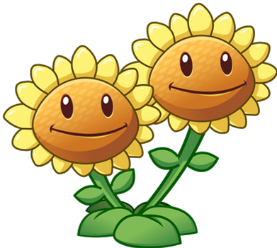 Plants Vs Zombies 2 Twin Sunflower By Illustation16 In 2020 Plants Vs Zombies Zombie Drawings Plant Zombie