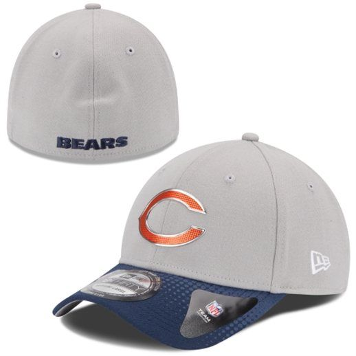 New Era Chicago Bears Gray/Navy Blue NFL Draft 39THIRTY Flex Hat #bears #nfl #football