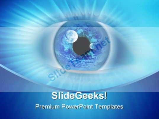 blue binary eye business powerpoint template 0810 #powerpoint, Presentation templates