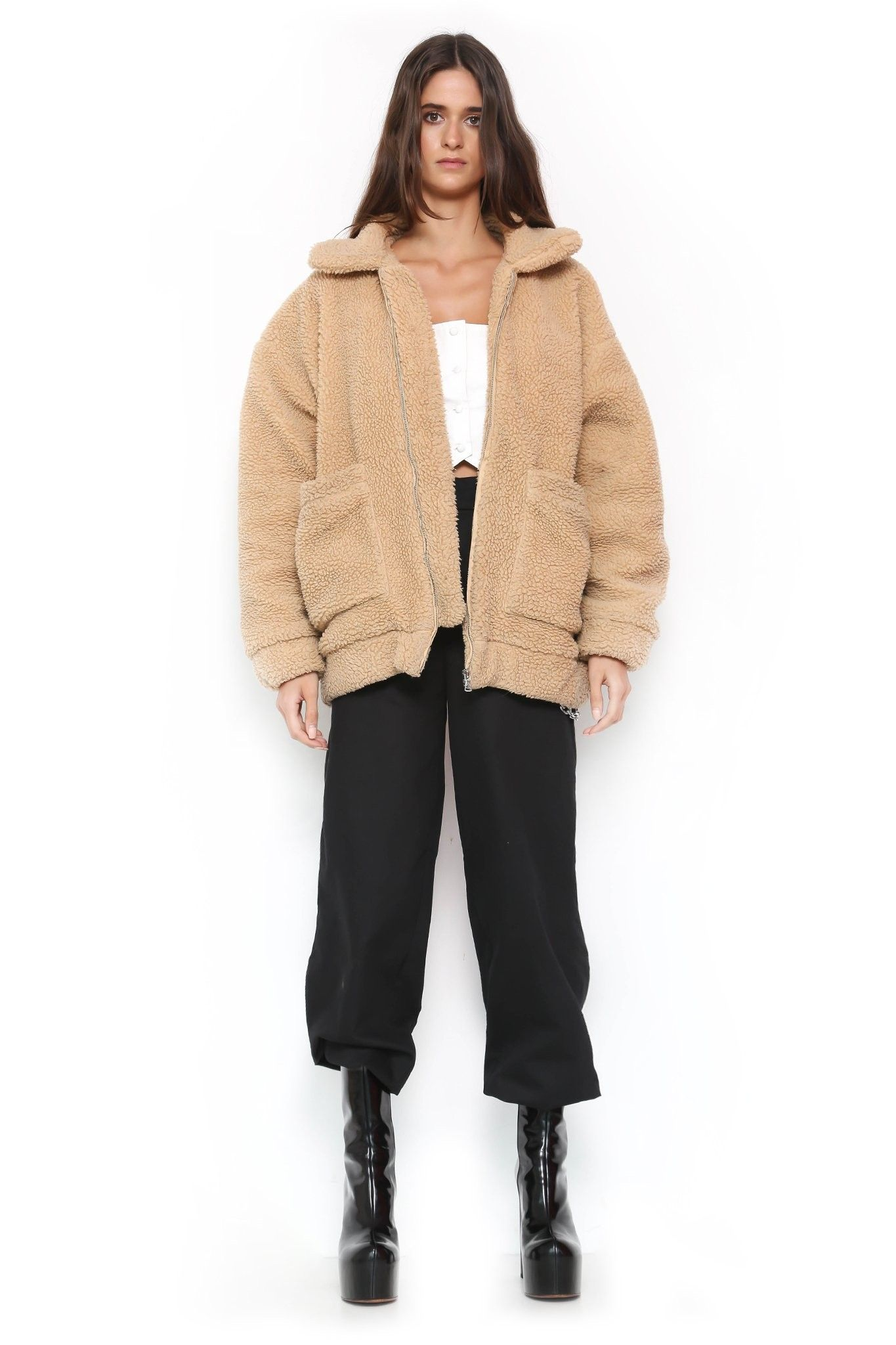 I AM GIA PIXIE COAT - CARAMEL  b92a7a31b