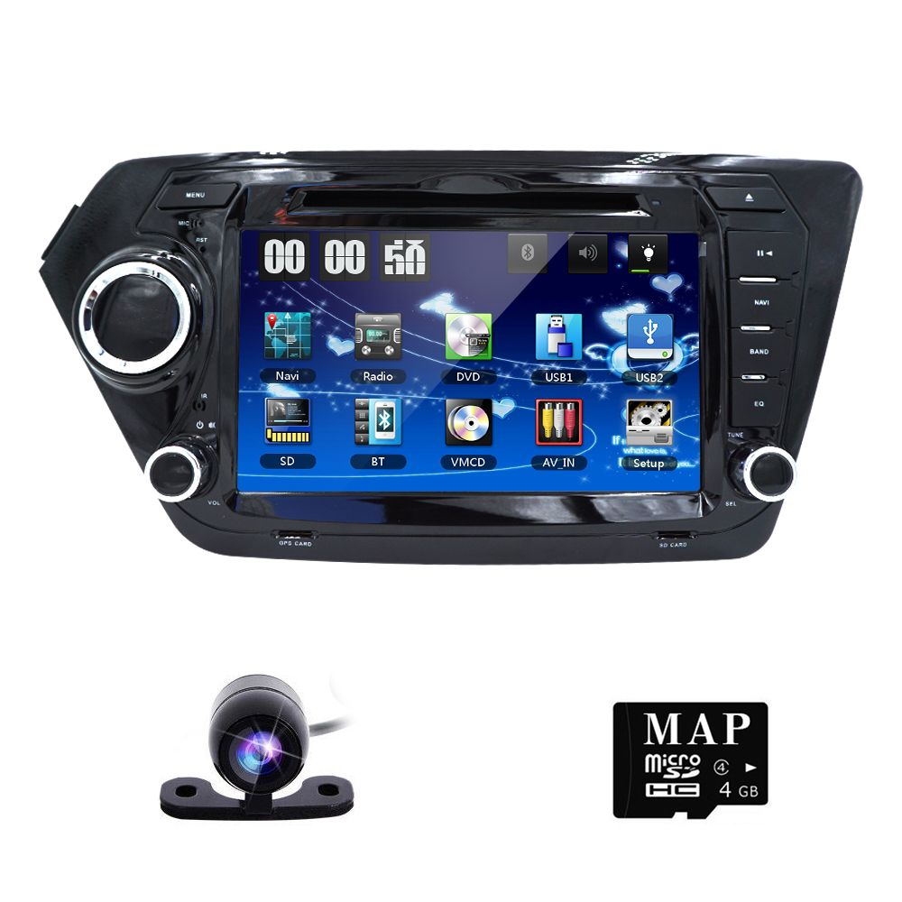 Free Rearview Camera ! Car DVD Player for KIA RIO K2 with Radio ...