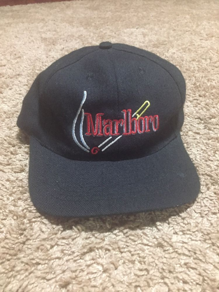Vintage Marlboro Hat Cigarette Logo  fashion  clothing  shoes  accessories   mensaccessories  hats (ebay link) 184b7e0502d