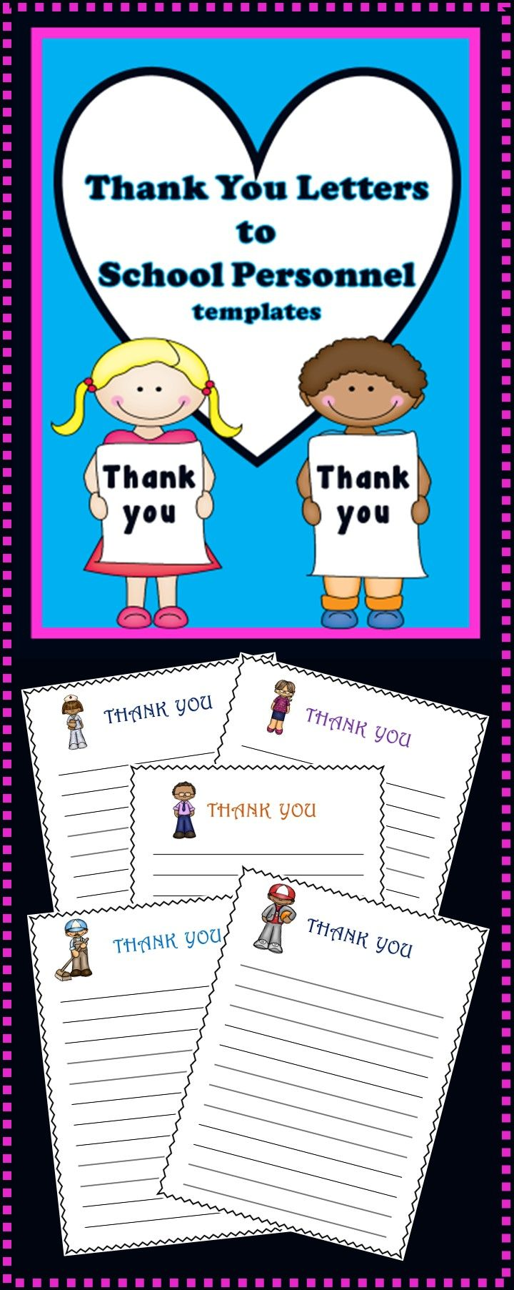 Friendly Letter Writing  Thank You Letters To School Staff  School