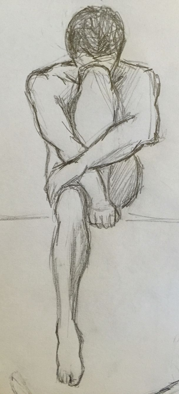 By goldfinch 3 sketch drawing pencil male nake body muscles