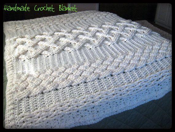 Cable Crochet Afghan Hugh Sale On Crochet Cable Afghan