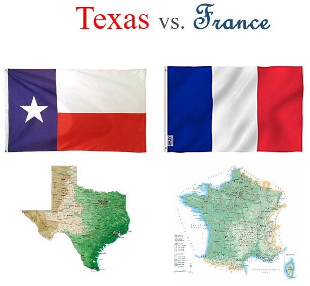 Texas vs. France The Epic Showdown Country flags, Texas