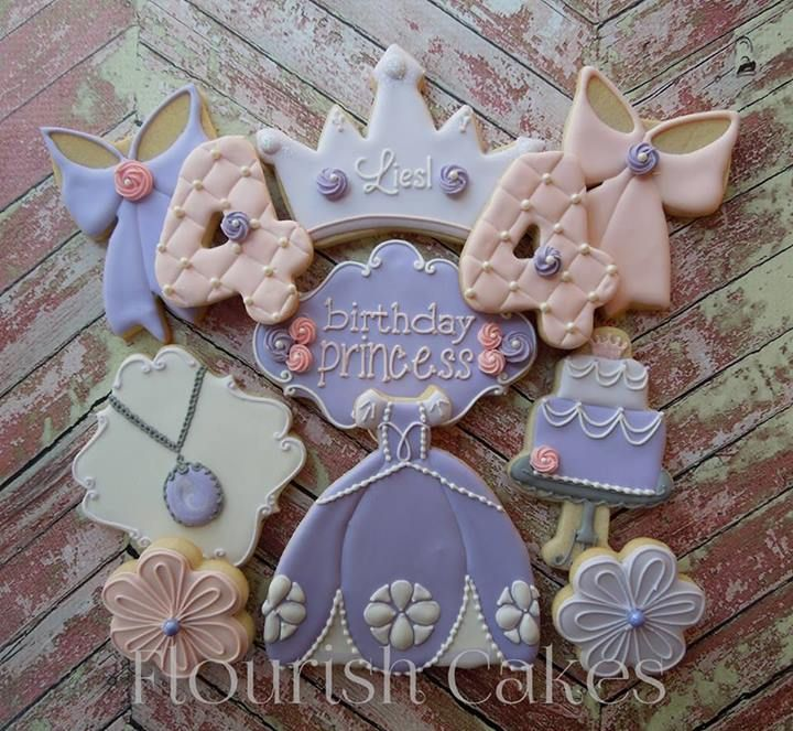 Pin By Abby Onkst On Nora S 5th Birthday: Sofia The First Birthday Cookies