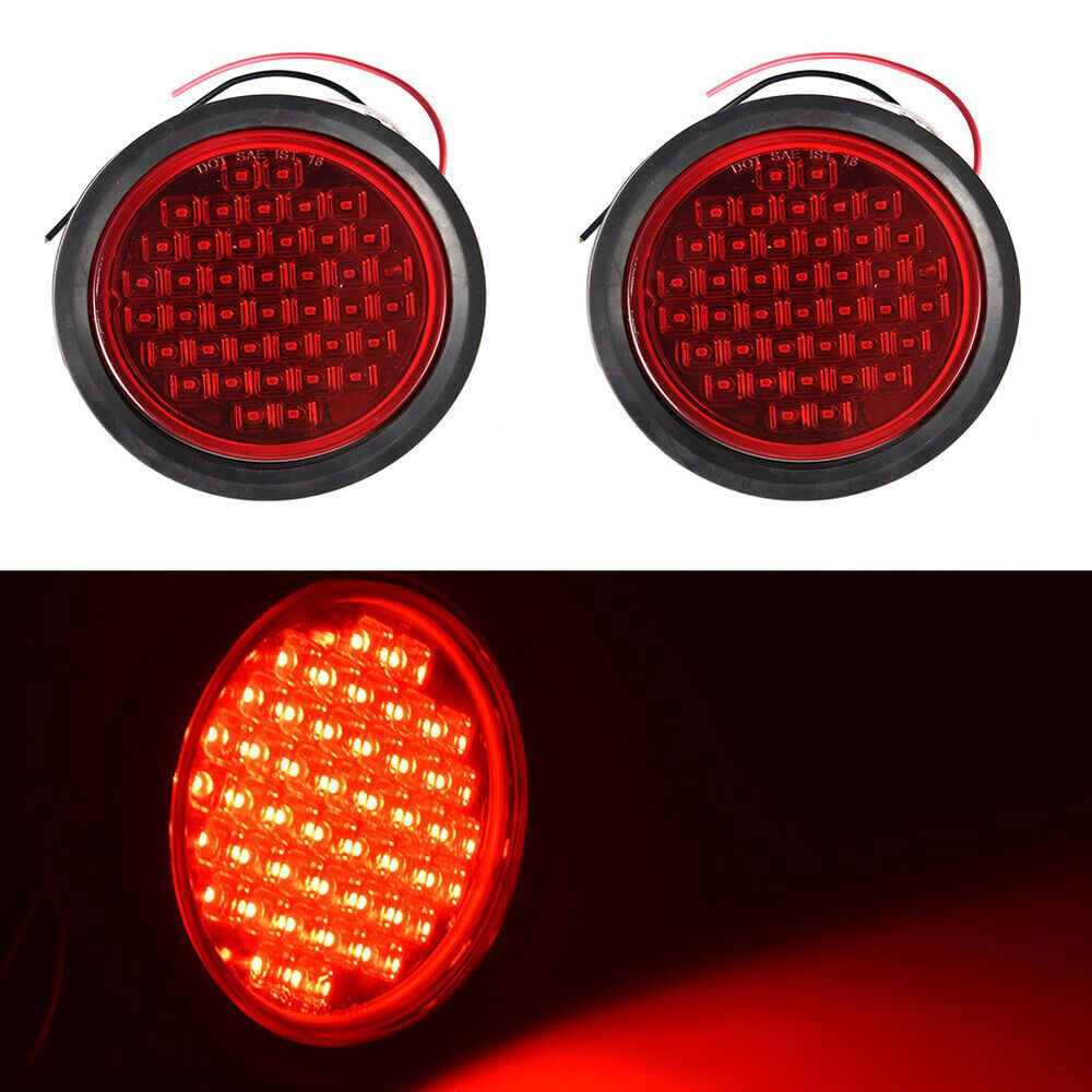 Specification 1 Led Quantity 40pcs 3 Voltage 12v 4 Color Red 5 Size 4 Inch 6 4 Sealed Led Light Function As Stop Tu Light Trailer Flush Mount Light