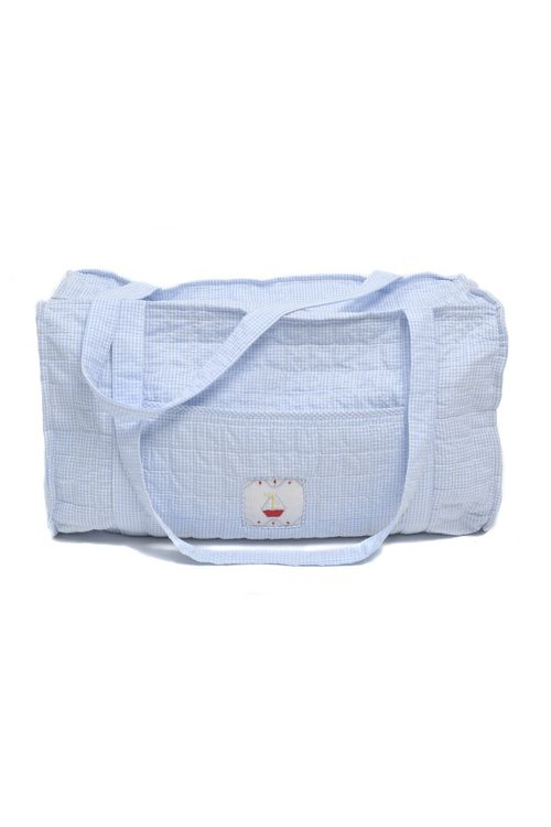 Baby needs to travel in style. Little English Duffle Bag- Sailboat